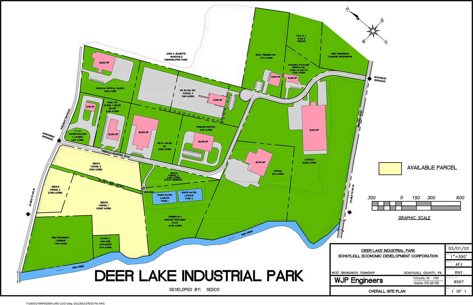 Deer Lake Industrial Park Map